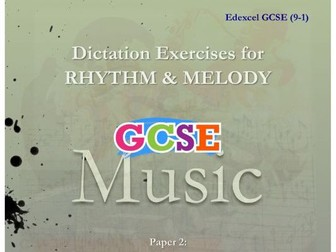 DICTATION - RHYTHM & MELODY PAPER #2 [SACRED MUSIC]