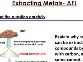 KS3 Extracting Metals six mark question