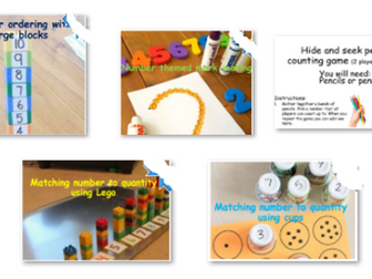 Number Recognition, Comparing, Sorting and Ordering Activities (EYFS Nursery age 3-4 years old)
