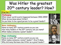 Hitler - a great leader?