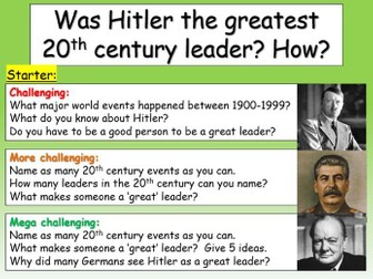 Hitler - a great leader?