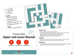 Upper and Lower Bounds (Crossnumber)