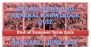 """End of Term """"News and General Knowledge Quiz"""" (January - June 2018)"""