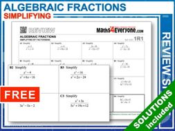 Algebraic Fractions: Simplifying (GCSE Topic Review)