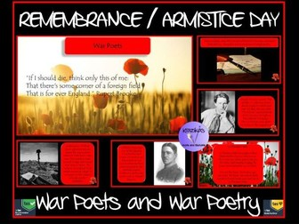 Armistice Day / Remembrance Day - War Poets / War Poetry