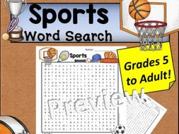 Sports Word Search *Hard*