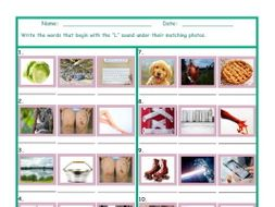 Phonics L Sound Photo Worksheet