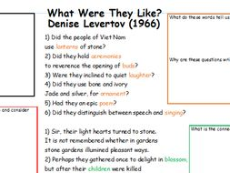 Partially Annotated Poem - What Were They Like? - DENISE LEVERTOV