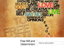 Free Will and Determinism A Level Presentation