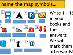 Map Skills - L10 + 11 Treasure Map Assessment (Lesson and Resources)