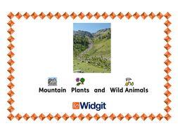 Widgit - Mountain Plants and Wild Animals