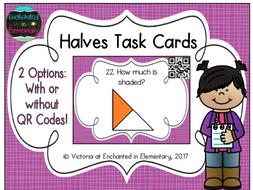 Halves Task Cards