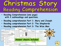 Christmas Story Reading Comprehensions