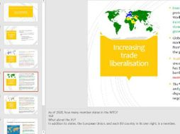 A Level Economics Theme 3 2.3.1 Globalisation How significant is the growth of trade
