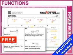 Functions (GCSE Topic Review)