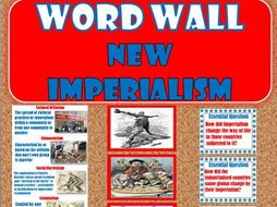 New Imperialism WORD WALL (World History)