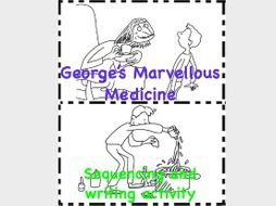 George's Marvellous Medicine Roald Dahl - Sequence write colour retell the story