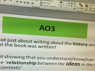 Frankenstein AQA AO3 lesson