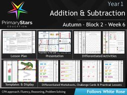 YEAR 1 - Addition Subtraction - White Rose - WEEK 6 - Block 2 - Autumn - Differentiated Resources