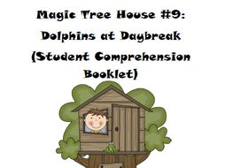 Magic Tree House Book 9: Dolphins at Daybreak Reading Comprehension Packet