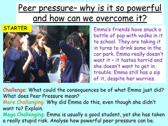 Peer Pressure + Bullying PSHE