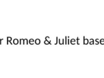 Romeo and Juliet diary lesson
