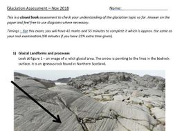 A-level Geography Glaciation Assessment