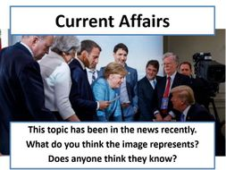 Current Affairs Form Time Activity - Trump's Tariffs