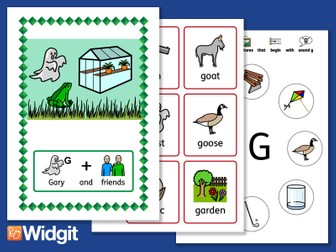 """Sound Stories """"G"""" and """"K"""" - Pack with Widgit Symbols"""