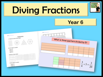 Maths- Dividing fractions- Year 6