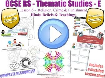GCSE Hinduism - Religion, Crime & Punishment - Unit Overview (Religious Studies - L6/7)