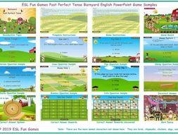 Past Perfect Tense Barnyard English PowerPoint Game