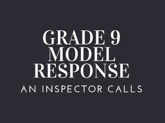 GRADE 9 MODEL SHEILA BIRLING IMPORTANCE