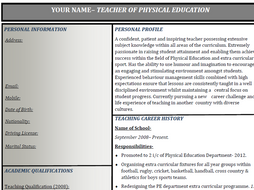 Teacher Curriculum Vitae Template By Jwilliams11 Teaching