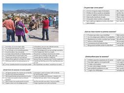 Speaking Booklet Spanish 1-9 GCSE