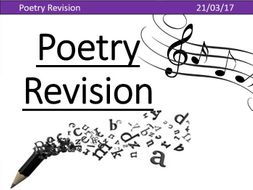EDUQAS Poetry Anthology Revision Aid