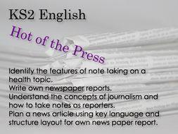 KS2 English Hot of the Press