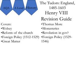AQA A Level Tudors Guide Henry VIII