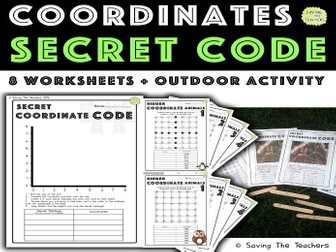 Coordinates Activities: Secret Code and Outdoor Activity