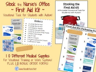 First Aid Kit Assembly- A Vocational Activity for Students with Autism