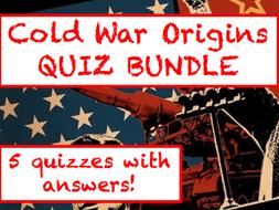 Cold War Origins revision QUIZ BUNDLE