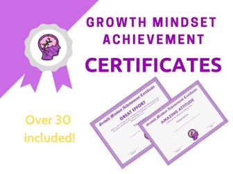 Growth Mindset Achievement Certificates Purple Edition