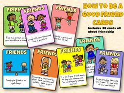 How to be a good friend flashcards