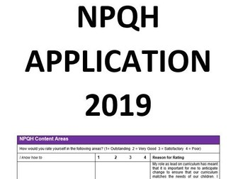 NPQH Successful Application 2019