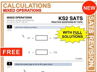 Y6 Maths SATs Revision (Mixed Operations)