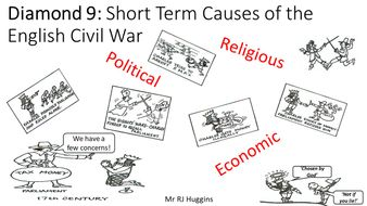 Diamond 9: Short Term Causes of the English Civil War