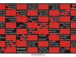 Past Perfect Tense Checker Board Game