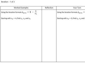 Iteration GCSE Example Problem Pairs