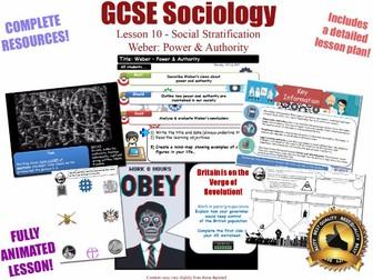 Power & Authority (I) - Social Stratification -L10/20 [ AQA GCSE Sociology - 8192] Weber
