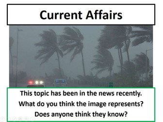 Current Affairs Form Time Activity - Hurricane Irma